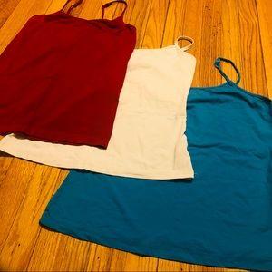 💰Set of 3 tank tops red white & blue cami bundle